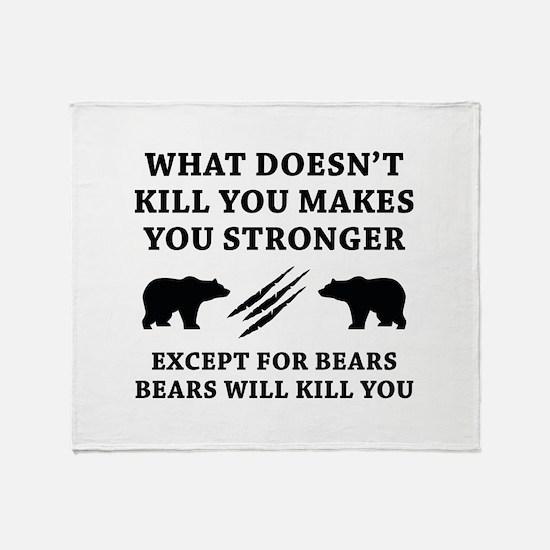 Except For Bears Stadium Blanket