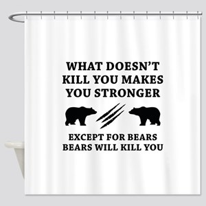 Except For Bears Shower Curtain