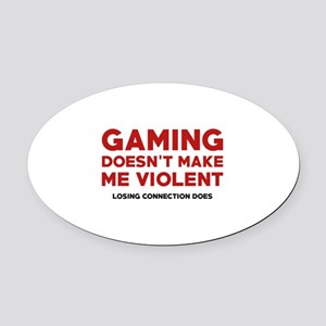 Losing Connection Oval Car Magnet