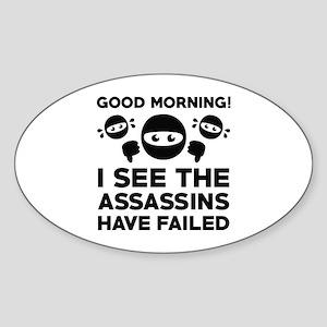 Good Morning Sticker (Oval)