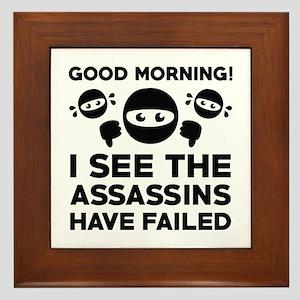 Good Morning Framed Tile
