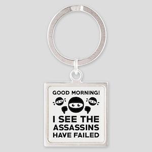 Good Morning Square Keychain