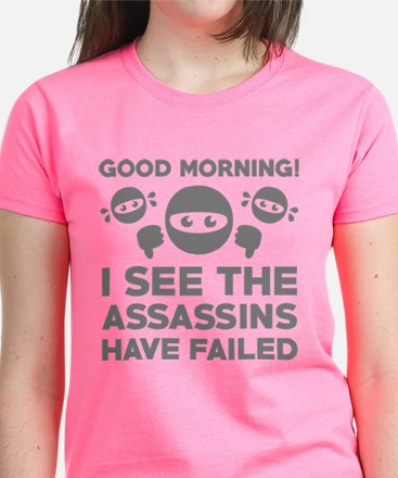 Morning gifts merchandise morning gift ideas apparel cafepress good morning womens dark t shirt negle Images