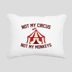 Not My Circus Rectangular Canvas Pillow