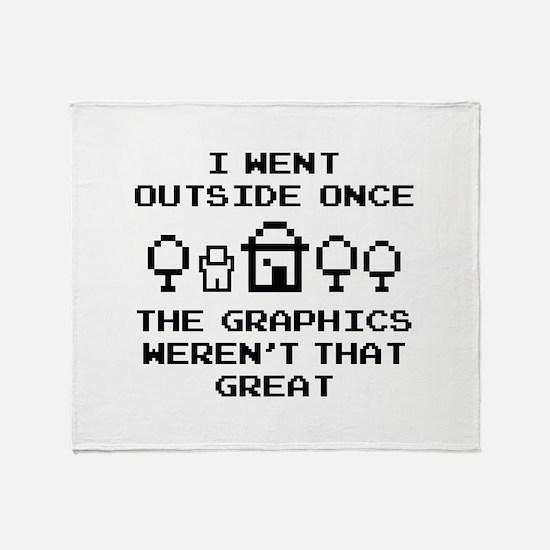 I Went Outside Once Stadium Blanket