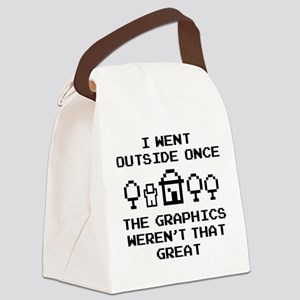 I Went Outside Once Canvas Lunch Bag
