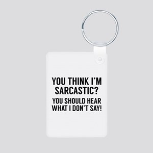 Sarcastic Aluminum Photo Keychain
