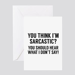 Sarcastic greeting cards cafepress sarcastic greeting card m4hsunfo