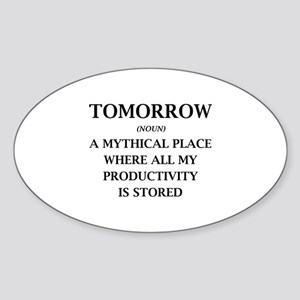 Tomorrow Sticker (Oval)