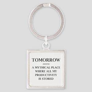 Tomorrow Square Keychain