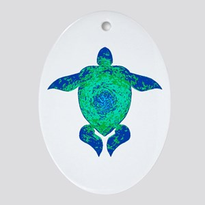 TURTLE Oval Ornament