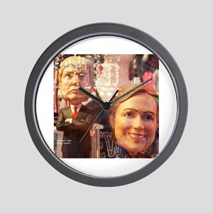 Donald and Hillary Wall Clock
