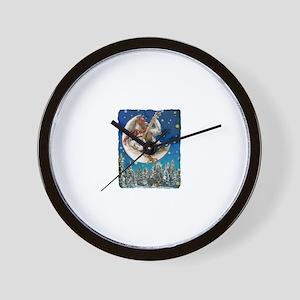 Banjo Chicken Moon Wall Clock