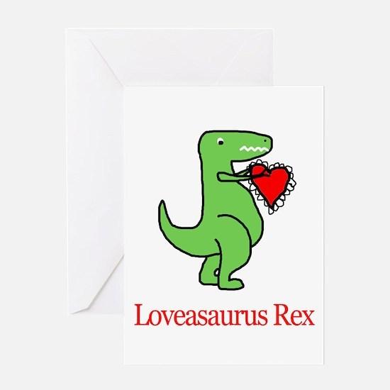 Loveasaurus Rex Greeting Cards