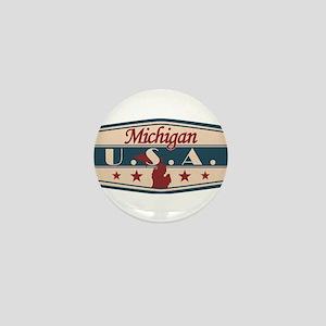 Michigan, USA Mini Button
