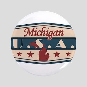 Michigan, USA Button