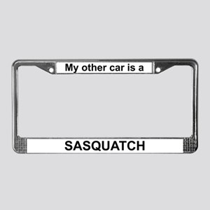 My other car is a Sasquatch License Plate Frame