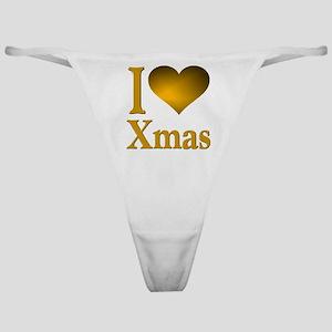 I Love Xmas Classic Thong