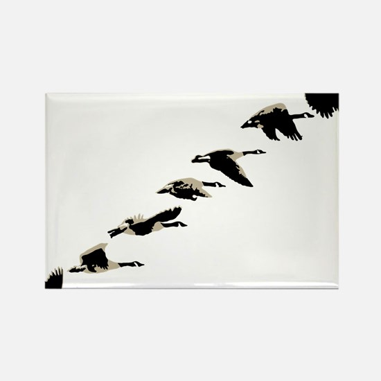 Cute Goose hunting Rectangle Magnet