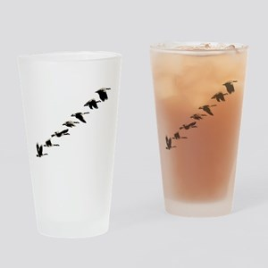 Geese Drinking Glass