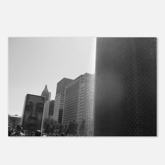 Crown Fountain, Chicago Postcards (Package of 8)