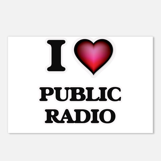 I love Public Radio Postcards (Package of 8)