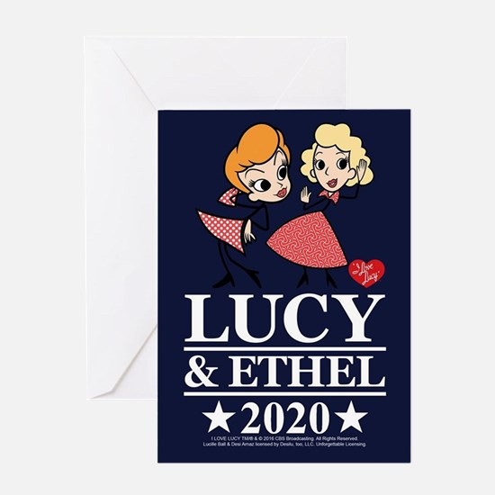 Lucy and Ethel 2020 Greeting Card