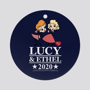 Lucy and Ethel 2020 Round Ornament