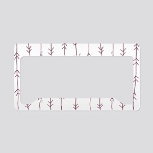Purple, Mulberry: Arrows Patt License Plate Holder