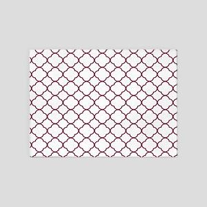 Purple, Mulberry: Quatrefoil Clover 5'x7'Area Rug