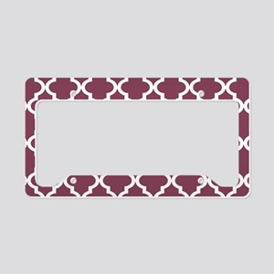 Purple, Mulberry: Quatrefoil License Plate Holder