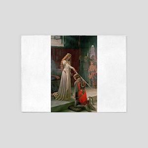 The Accolade by Edmund Blair Leighton 5'x7'Area Ru
