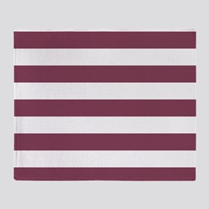 Purple, Mulberry: Stripes Pattern (H Throw Blanket