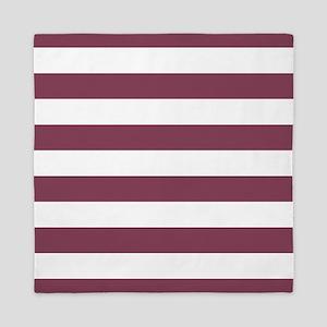 Purple, Mulberry: Stripes Pattern (Hor Queen Duvet