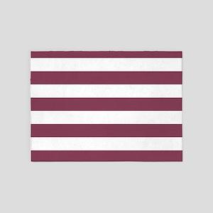Purple, Mulberry: Stripes Pattern ( 5'x7'Area Rug