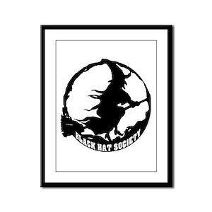 Black Hat Society Framed Panel Print