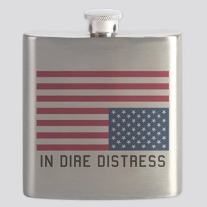 Upside Down Flag Distress Flask