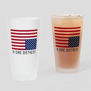 Upside Down Flag Distress Drinking Glass