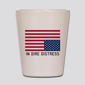 Upside Down Flag Distress Shot Glass