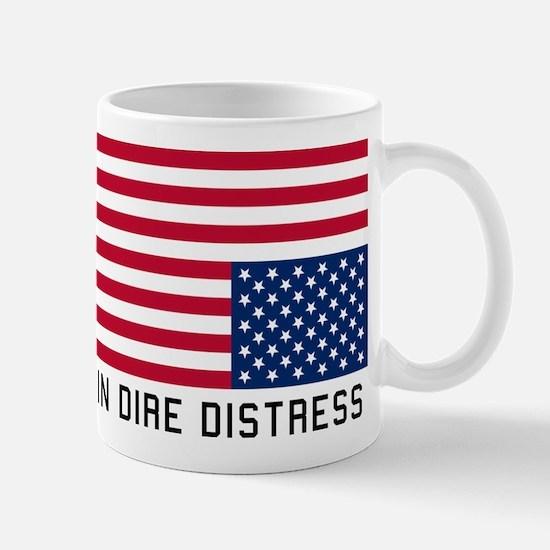 Upside Down Flag Distress Mugs