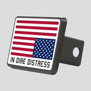 Upside Down Flag Distress Hitch Cover