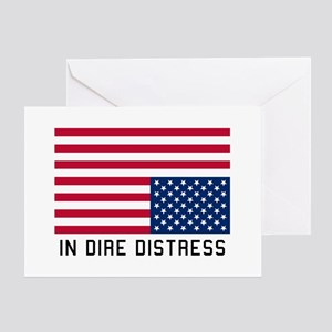 Upside Down Flag Distress Greeting Cards