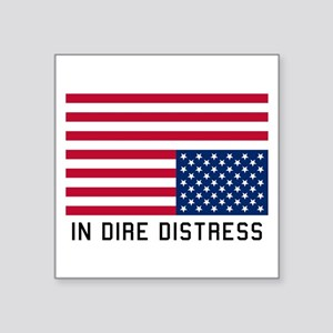 Upside Down Flag Distress Sticker