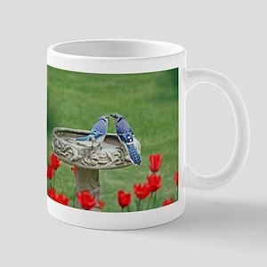 Blue Jay Lovebirds Mugs