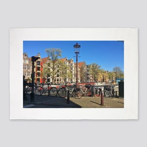 Amsterdam row houses 5'x7'Area Rug