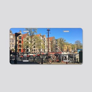 Amsterdam row houses Aluminum License Plate
