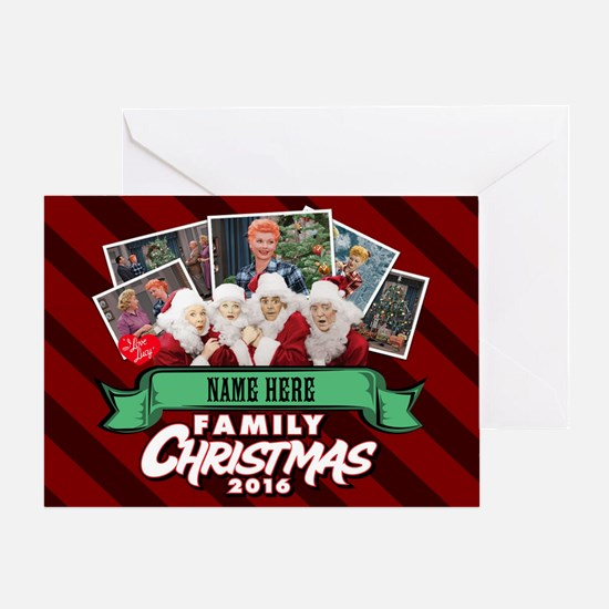 Personalized Family Christmas Greeting Card
