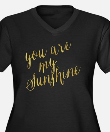 Cute You are my sunshine Women's Plus Size V-Neck Dark T-Shirt