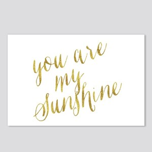 You Are My Sunshine Gold Postcards (Package of 8)