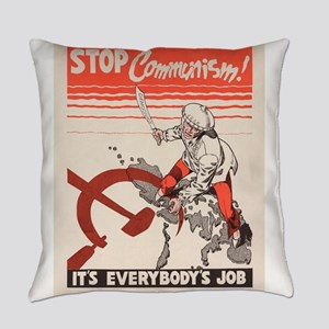 Vintage poster - Stop Communism Everyday Pillow